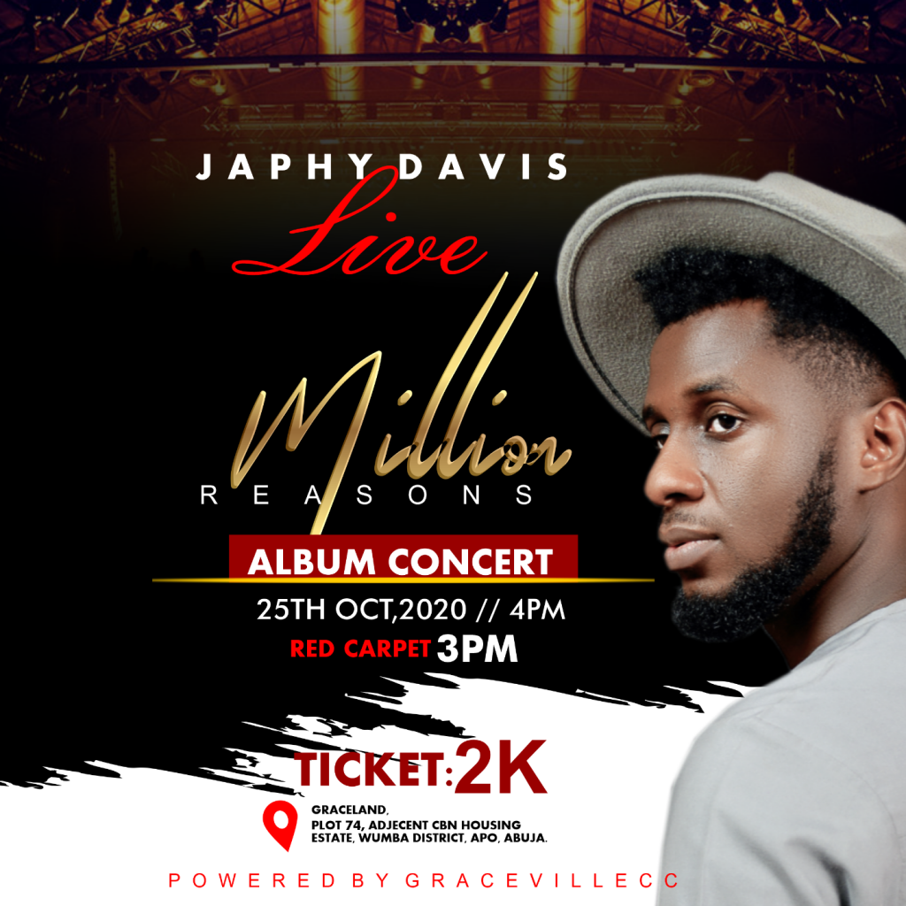 Japhy Davis Live Million Reasons Album Concert